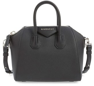 Givenchy 'Mini Antigona' Sugar Leather Satchel - Black $1,790 thestylecure.com