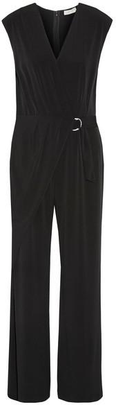 MICHAEL Michael Kors - Wrap-effect Stretch-jersey Jumpsuit - Black