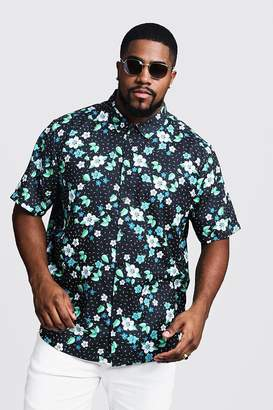 Big & Tall Ditsy Floral Short Sleeve Shirt