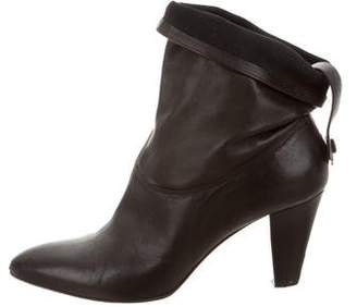 Brian Atwood Leather Pointed-Toe Booties
