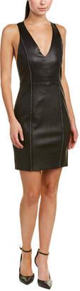 Alice + Olivia Dex Leather Sheath Dress