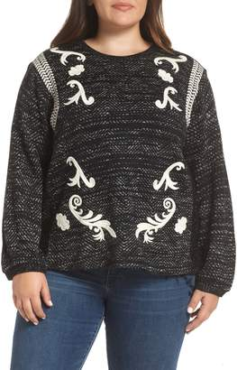 Lucky Brand Embroidered Sweater