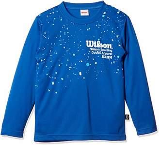 Wilson (ウィルソン) - [ウィルソン] 子供服 長袖Tシャツ WX5821 [ジュニア] ボーイズ ブルー 日本 130 (日本サイズ130 相当)