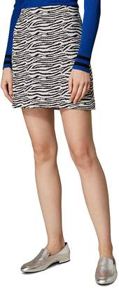 Karen Millen Zebra A-Line Mini Skirt