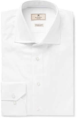 Hackett White Mayfair Slim-Fit Cutaway-Collar Cotton Oxford Shirt