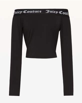 Juicy Couture Juicy Jacquard Off Shoulder Top
