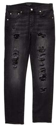 Alexander McQueen 2016 Distressed Skinny Jeans
