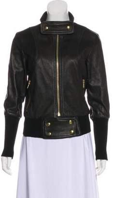 Smythe Zip-Up Leather Jacket
