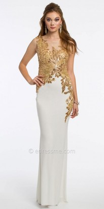 Camille La Vie Sequin Illusion Prom Dress $270 thestylecure.com