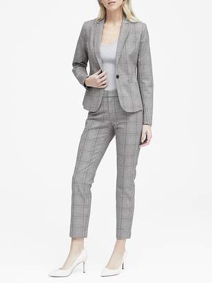 Banana Republic Classic-Fit Bi-Stretch Plaid Blazer