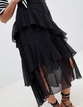 Asos Design DESIGN floaty midi skirt