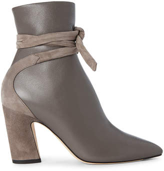 Jimmy Choo Dark Grey Henriette Leather Booties