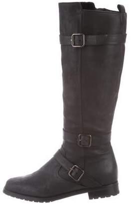 Manolo Blahnik Leather Round-Toe Boots