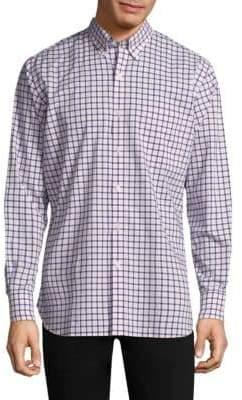 Peter Millar Checkered Cotton Button-Down Shirt