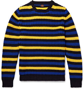 Piombo MP Massimo Hirst Slim-Fit Striped Cotton Sweater