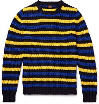 Piombo Mp Massimo MP Massimo Hirst Slim-Fit Striped Cotton Sweater - Men - Yellow