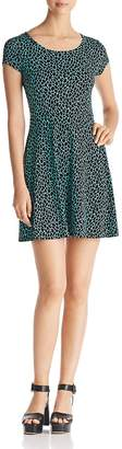 MICHAEL Michael Kors Graphic Giraffe Print Fit-and-Flare Dress