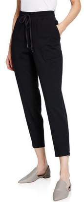 Eileen Fisher Petite Drawstring Slouchy Jersey Straight-Leg Ankle Pants