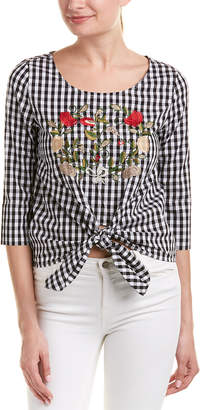 Romeo & Juliet Couture Tie-Front Top