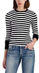 Women's Striped Merino Wool Rib-Knit Sweater