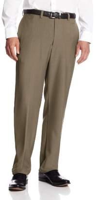 Haggar Men's Big and Tall Repreve Stria Plain Front Dress Pant