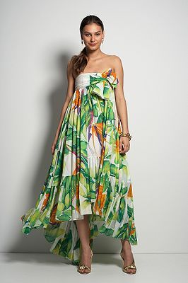 Lipari Gown in Birds of Paradise