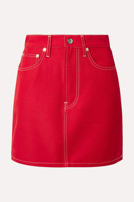Helmut Lang Denim Mini Skirt - Red