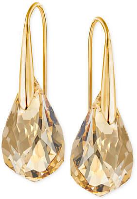 Swarovski Gold-Tone Champagne Crystal Drop Earrings