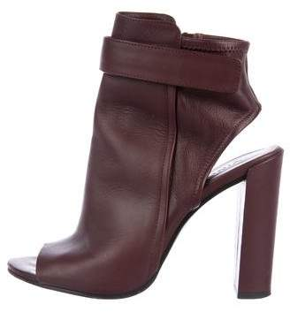 Vince Leather Cutout Ankle Boot