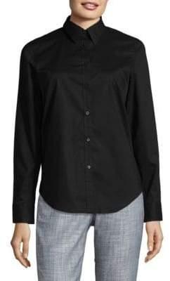 Chaps No-Iron Cotton Broadcloth Button-Down Shirt