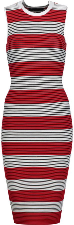 Alexander WangAlexander Wang Striped ribbed-knit dress