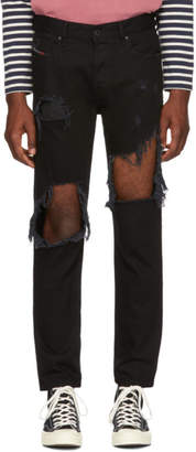 Diesel Black Distressed Mharky Jeans