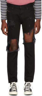 Diesel Black Distressed Mharky Jeans