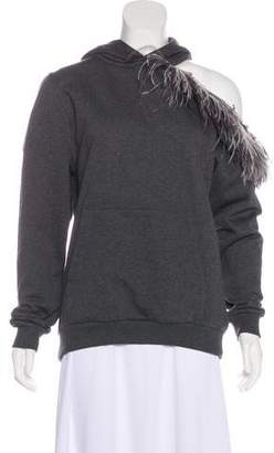 Christopher Kane Ostrich Feather-Accented Hoodie