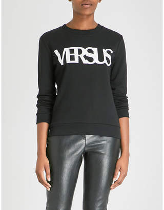 Versace Logo-detail cotton-jersey sweatshirt
