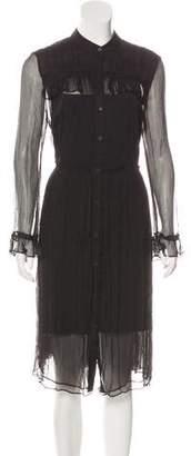 Needle & Thread Sheer Long Sleeve Midi Dress w/ Tags