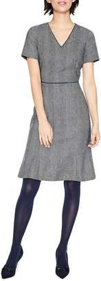 Boden Albany Herringbone Tweed Wool Dress