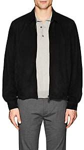 Cifonelli Men's Suede Bomber Jacket - Black