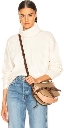 RE/DONE Chunky Rib Turtleneck in Ivory | FWRD