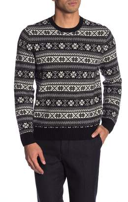 Brooks Brothers Fair Isle Crew Neck Sweater