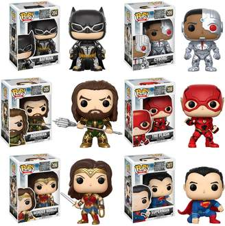 Justice Funko POP! Movies DC League Collectors Set: Batman, Aquaman, Cyborg, The Flash, Wonder Woman & Superman