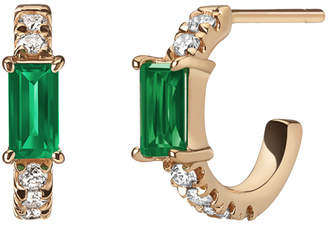 Emerald & Diamond Nikita Huggie Hoops