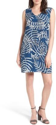 Petite Women's Halogen V-Neck Shift Dress $59 thestylecure.com