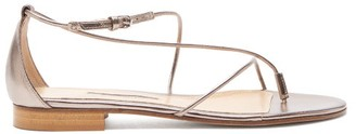 Emme Parsons String Metallic Leather Sandals - Womens - Gold