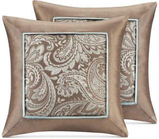 "Madison Park Aubrey Paisley Jacquard 20"" Square Pair of Decorative Pillows"