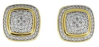 David Yurman 18K Diamond Albion Earrings