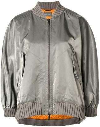Alberta Ferretti boxy-fit bomber jacket