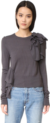 MM6 Ruffle Sweater $540 thestylecure.com