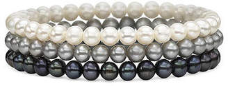 JCPenney FINE JEWELRY Cultured Freshwater Pearl 3-pc. Stretch Bracelet