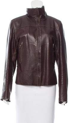 Fendi Textured Mock Collar Jacket